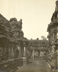North view of the shrine, Kailasanatha Temple, Great Conjeeveram, Chingleput District
